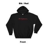 Infamous Hoodie Blk / Red Front