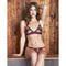 Fleur Of England Bordeaux Burgundy Red Lace Boudoir Bra & Brief - Ellen Terrie
