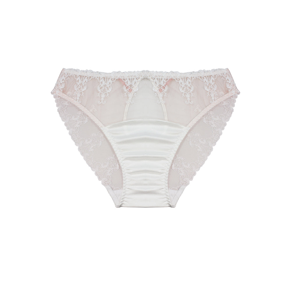 Fleur of England Colette White Lace Bridal Ouvert Brief - Ellen Terrie