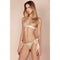 Gilda & Pearl Harlow Blush Gold Bra Side Tie Lace Silk Brief - Ellen Terrie