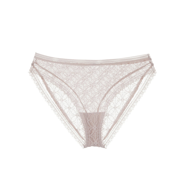 Else Lingerie Chloe Nude Pink Sustainable Lace Bikini Brief - Ellen Terrie