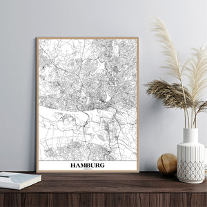 Map Hamburg | PLAKAT