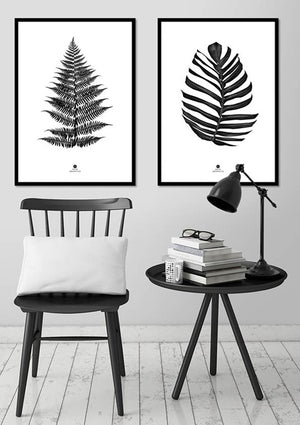 Jungle Leaf black | PLAKAT