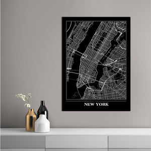 Map New York Black | PLAKAT