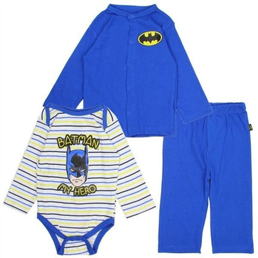 "Blue Batman 3 Piece Layette Set ""I'm a Hero""-Baby-Penguin-Mekong Magic"