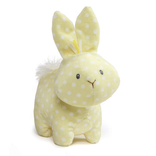 "Gund Roly Polys Bunny, 6"" Yellow Polka Dot-Plush-GUND-Mekong Magic"