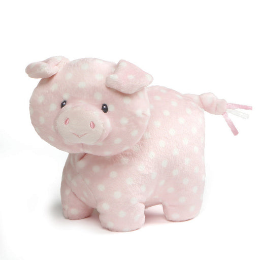 "Gund Roly Polys Pig, 6"" Pink Polka Dot-Plush-GUND-Mekong Magic"