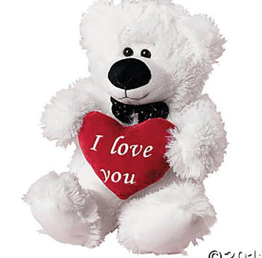 "I Love You 11"" Plush Polar Bear-Plush-OTC-Mekong Magic"