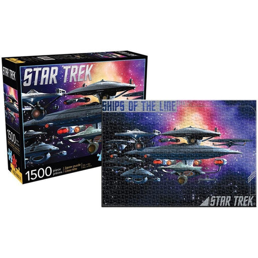 Star Trek Federation Ships of the Line 1,500-Piece Puzzle-Puzzle-Aquarius-Mekong Magic