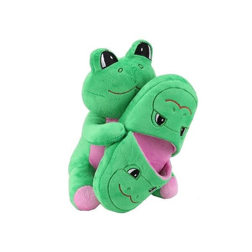 Sweet Dreams Green Frog Slippers and Plush Gift Set-Slippers-Sweet Dreams-Mekong Magic