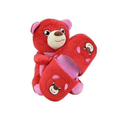 Sweet Dreams Red Bear Slippers and Plush Gift Set-Slippers-Sweet Dreams-Mekong Magic
