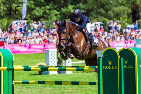 Katie Dinan & Beat Mändli's horses count on Haygain  for smooth sailing in the Grand Prix arena.