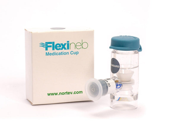 Flexineb Nebulizer Medication Cup / Drug Chamber Unit Standard Flow - Grey