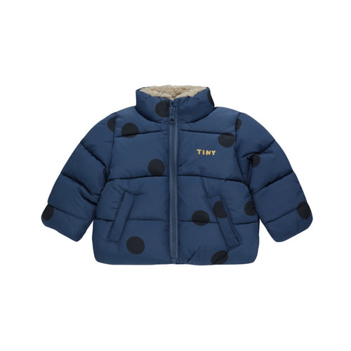 Tinycottons / Padded Jacket / Big Dots / Light Navy - Navy