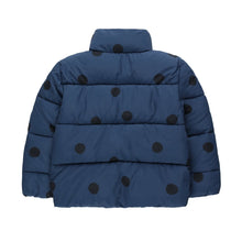 Load image into Gallery viewer, Tinycottons / Padded Jacket / Big Dots / Light Navy - Navy