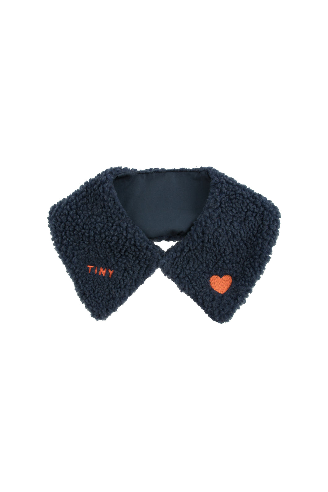 Tinycottons / Sherpa Collar / 'Tiny' / Navy