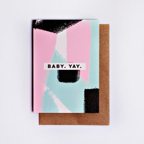 The Completist / Graphic Card / Wenskaart / Baby Yay Brushstrokes