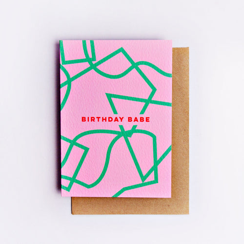 The Completist / Graphic Card / Wenskaart / Birthday Babe Shapes