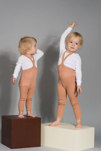 Silly Silas / Footless Tights / Light Brown - Salmon