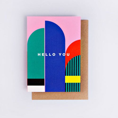 The Completist / Graphic Card / Wenskaart / Hello You Miami