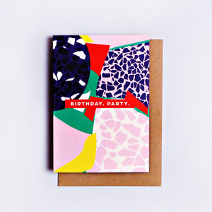 The Completist / Graphic Card / Wenskaart / Terrazzo / Birthday Party