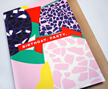 Load image into Gallery viewer, The Completist / Graphic Card / Wenskaart / Terrazzo / Birthday Party