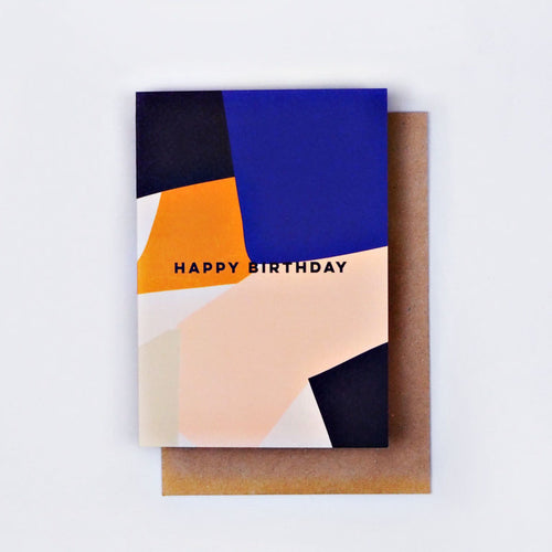The Completist / Graphic Card / Wenskaart / Overlay Shapes / Birthday