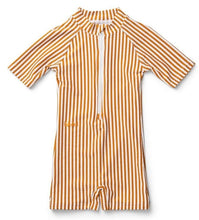 Load image into Gallery viewer, Liewood / Max / Swim Jumpsuit / Mustard - White