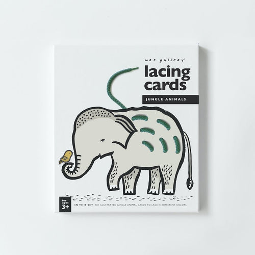 Wee Gallery / Lacing Cards / Jungle Animals