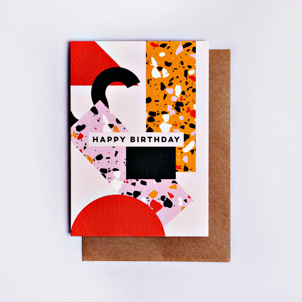 The Completist / Graphic Card / Wenskaart / Memphis / Birthday