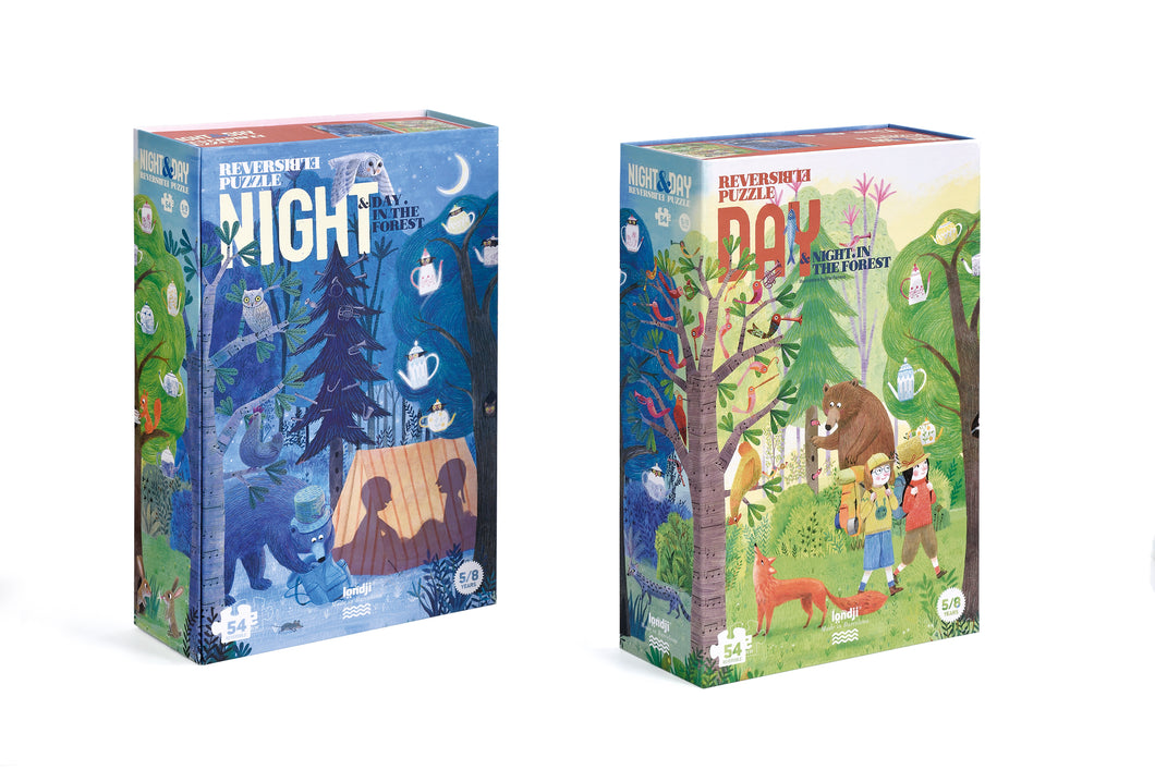 Londji / Reversible Puzzle / Night & Day In The Forest / 5-8Y