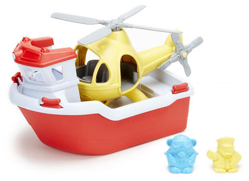 Green Toys / 2+ / Rescue Boat & Helicopter