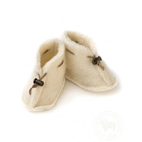 Alwero / Wool Baby Boots / Natural