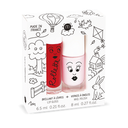 Nailmatic Kids / Set Lipgloss + Nagellak / Kids Cottage