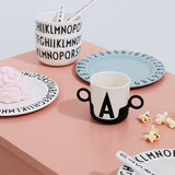 Design Letters / Handle for Melamine Cup / Beker Houder
