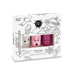 Nailmatic Kids / Nagellak op waterbasis / Set van 3 / Las Vegas
