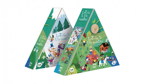 Londji / Reversible Puzzle / Let's go to the mountain! / 5-8Y