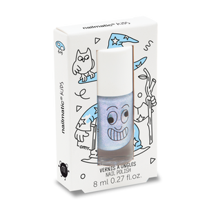 Nailmatic Kids / Water-based nail polish / Merlin / Pearly Blue