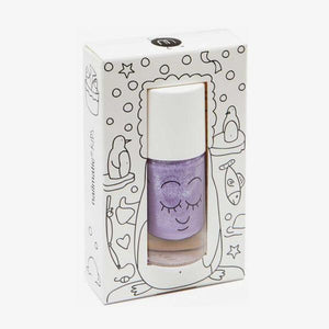Nailmatic Kids / Water-based nail polish / Piglou / Lilac Glitter