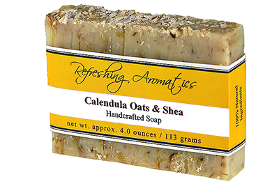 NATURAL HANDCRAFTED SOAP - CALENDULA OATS & SHEA