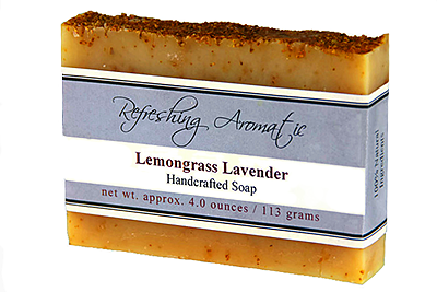 NATURAL HANDCRAFTED SOAP -LEMONGRASS LAVENDER
