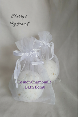 Lemon Chamomile Bath Bomb