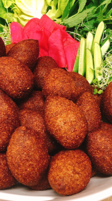 Falafel and Kibbi balls