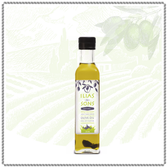 Extra Virgin Olive Oil - Organic - Black Garlic Infused