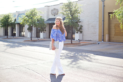 White wide leg pants - Vegan Fashion