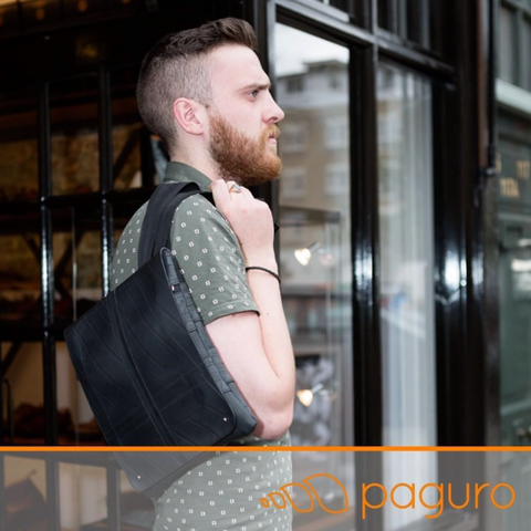 Men's backpack made of vegan leather from rubber