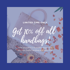 !0% discount code for handbags promotion