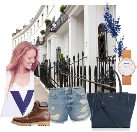 Blooming in Blue. Polyvore Vegan Fashion Outifit | ALIVE Boutique - A Little Vegan Boutique