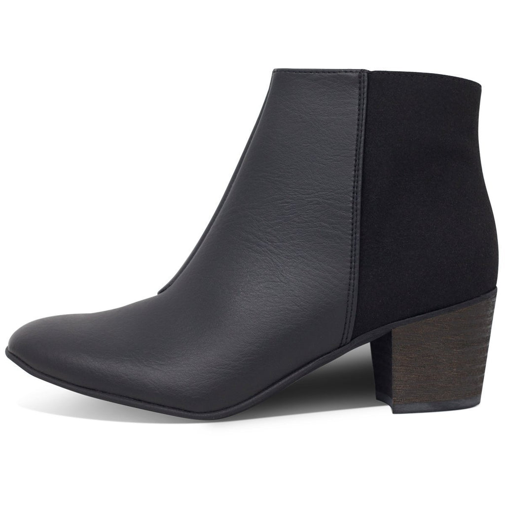 Ankle Vegan Boots in Black form the left by Good Guys at ALIVE Boutique