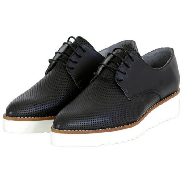 Black Bedawi Women's Vegan Oxfords by Bahatika picture from the side at ALIVE Boutique